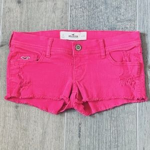Hollister Hot Pink Jean Shorty Short